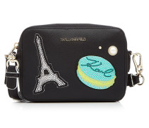 Camera Bag K/Paris aus Leder mit Applikationen