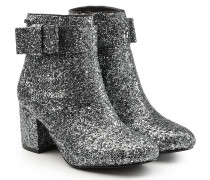 Ankle Boots mit Glitter Finish und Schleife