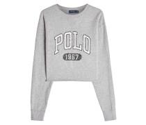 Bedrucktes Cropped Sweatshirt mit Baumwolle