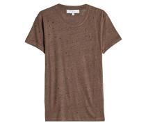 T-Shirt aus Leinen im Distressed Look