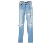 Straight Leg Jeans im Used Look