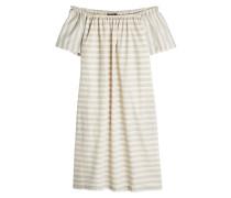 Gestreiftes Off Shoulder Kleid aus Baumwolle