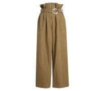 Paperbag Pants mit Baumwolle