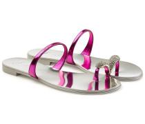 Sandalen aus Leder mit Ziersteinen