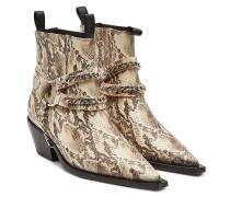 Bedruckte Ankle Boots Harris aus Leder