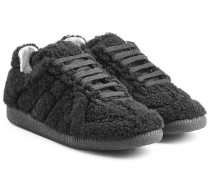 Sneakers aus Fell und Leder