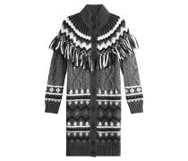 Strick-Cardigan aus Alpaka- und Schurwolle