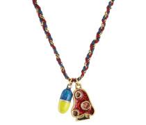 Halskette mit gewebtem Band aus Baumwolle