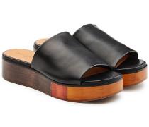 Ledersandalen Quena mit Plateausohle aus Holz