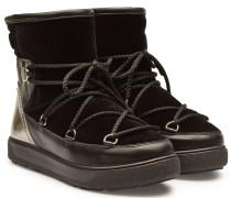 Winter-Boots Stephanie aus Leder und beschichtetem Leder