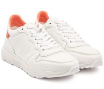 Sneakers Jogger aus Leder und Mesh