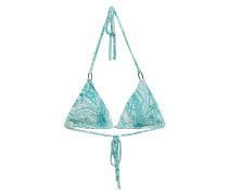 Bedrucktes Triangel-Bikini-Top Cancun