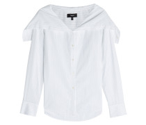 Gestreifte Bluse aus Baumwolle mit Matrosenkragen