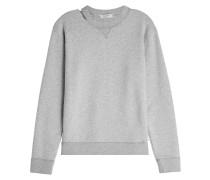 Sweatshirt aus Baumwolle im Destroyed Look
