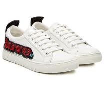 Leder-Sneakers Empire mit Verzierung