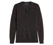 V-Pullover mit Wolle und Kaschmir