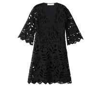 Lochspitzen-Kleid mit Baumwolle