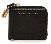Quadratisches Portemonnaie aus Leder