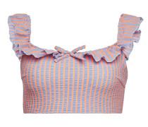 Bikini-Top The Paloma aus Seersucker mit Rüschen