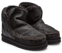 Gefütterte Ankle Boots Eskimo aus Veloursleder