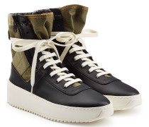 High Top Sneakers Jungle aus Leder und Textil