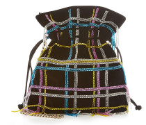 Verzierte Bucket-Bag Trilly Disco Tartan