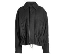 Geraffte Jacke aus Fleece-Wolle