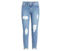 Skinny Jeans mit asymmetrischem Saum