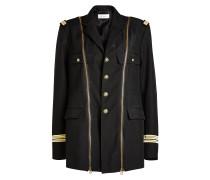 Blazer-Jacke mit Zippern
