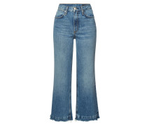 Cropped High Rise Wide Leg Jeans Justine