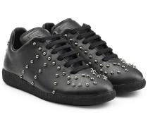 Leder-Sneakers mit Nieten