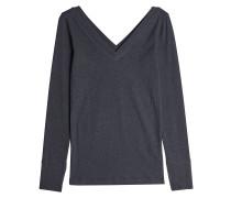 Pullover aus Baumwolle mit Cut Out und Décor