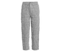 Gemusterte Pants aus Wolle und Baumwolle
