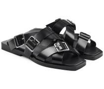 Leder-Sandalen mit Schnallen