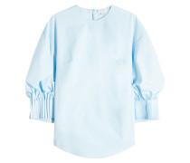 Bluse aus Baumwolle mit Plissees