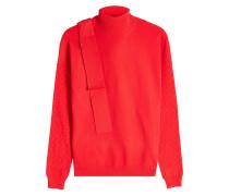 Pullover mit Stehkragen und Applikation