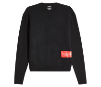 Pullover aus Wolle mit Logo-Label