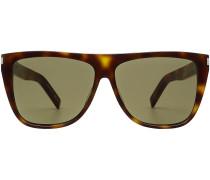 Eckige Sonnenbrille mit Schildpatt-Muster