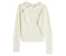 Pullover aus Baumwolle mit Rüschen und Cut Outs