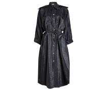Kleid mit Ziernähten und Bindegürtel