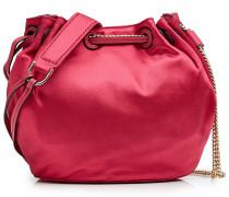 Bucket Bag aus Satin