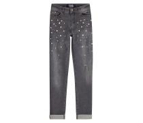 Cropped Jeans Choupette Pearl mit Décor