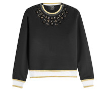 Verzierter Pullover aus Baumwolle mit Zippern