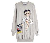 Gemustertes Strickkleid Betty Boop aus Baumwolle