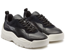 Sneakers New Runner aus Leder und Veloursleder