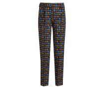 Bedruckte Straight Leg Pants aus Wolle