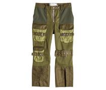 Cropped Pants im Patchwork-Stil