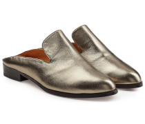 Mules Alice aus Leder im Metallic Look