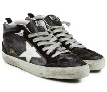 Sneakers Mid Star aus Leder und Veloursleder