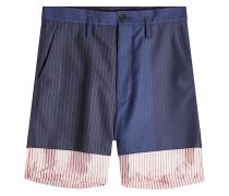 Shorts aus Wolle im Layer Look